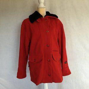 Braetan Red Wool Coat